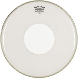 "Remo 12"" Controlled Sound Clear White Dot"