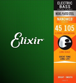 Elixir 14077 Bass NanoWeb Medium/Long Scale
