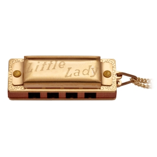 Hohner Little Lady Gold Plated with Necklace